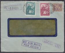 1953 Portugal Multifranking Registered Airmail,Lisbon to Bassel(B/S);Switzerland
