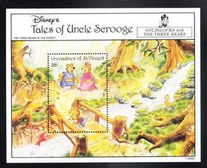 St. Vincent Grenadines GOLDILOCKS & THE THREE BEARS Disney Stamp S/S D811