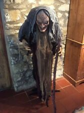 NEW  Life size Animated Witch LED Haunted House Halloween Party Prop Decoration