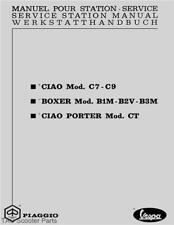 Piaggio Vespa Ciao Boxer Porter Moped Service Manual