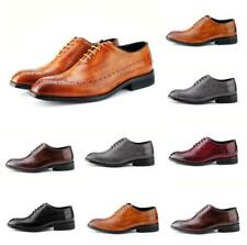 Chic Mens Wing Tip Lace Up Leather Business Chunky Brogue Pumps Party Shoes New