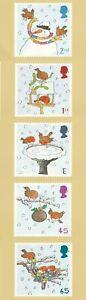 6 NOV 2001 CHRISTMAS SET OF ALL 5 PHQ CARDS Number 226 ROBIN CLOSE SHSs