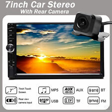 7 Inch Double Din Bluetooth Car Stereo With Backup Camera Audio Mp5 Touch Screen(Fits: Mitsubishi Diamante)