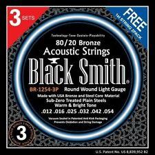 BlackSmith BR12543P, 80/20 Bronze Acoustic Strings, 3 SET PACK