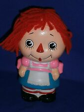 Vintage Raggedy Ann Composition Coin Bank by CNC c1960s 7 inch Japan