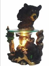 Black Bear Wax Tart Scented Oil Candle Warmer Electric Polyresin