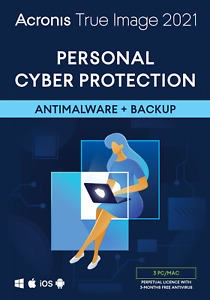Acronis True Image 2021 3 PC/Mac Perpetual Licence Personal Cyber Protection