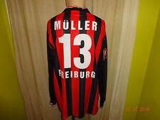 """SC Freiburg Jako Langarm Matchworn Trikot 2001/02 """"Natur"""" + Nr.13 Müller Gr.XXL"""