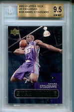 2002-03 Upper Deck UD Exclusives AMARE STOUDEMIRE Rare SP RC #/50 BGS 9.5 Pop 1