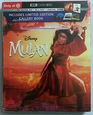 NEW DISNEY MULAN LIVE ACTION 4K ULTRA HD BLU RAY SLIPCOVER TARGET EXCLUSIVE BOOK