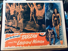 """Tarzan And The Leopard Woman 1950RR RKO 11x14"""" lobby card Johnny Weismuller Acqu"""