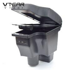 Vtear For Mazda 2 CX-3 armrest leather storage 3 USB box center cupholder 2020
