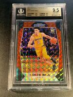 LONZO BALL 2017 PANINI PRIZM #73 MOSAIC RED REFRACTOR ROOKIE RC ALL BGS 9.5 10