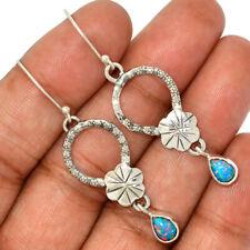Fire Opal 925 Sterling Silver Earrings Jewelry AE96880 155H