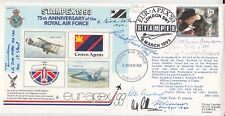 JS(AC)72 75th Anniversary of the RAF  Signed 7 WW11 Fighter Pilots Etc.