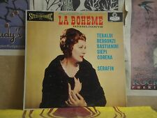 PUCCINI LA BOHEME, TEBALDI SERAFIN - LONDON LP OS 25201 BLUE BACK