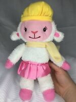 "Disney Doc McStuffins Lambie Lamb Snowflake Hat Plush Soft Stuffed Doll 12"""