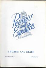 Review and Expositor Vol. LXXXiII No. 2, Spring 1986 - Church and State
