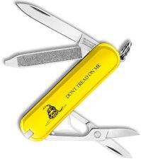 Victorinox Swiss Army Classic SD Gadsden Flag Yellow Don't Tread On Me 53076 NEW