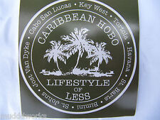 Lifestyle of less Caribbean Hobo sticker decal  Key West  Parrot islands beach