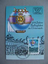 AUSTRIA, maximumcard maxi maximum card 1984, 200th ann. ballons flight