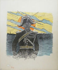 "Theophile Steinlen ""Le Capitaine""  Lithograph"