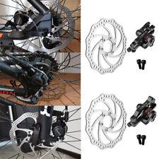 Bicicleta de Montaña Bici Bicicleta Delantero Trasero Pinza De Freno De Disco Mecánico Kit 160mm Rotor Set