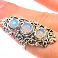 Large Ethiopian Opal 925 Sterling Silver Ring Size 8 Ana Co Jewelry R61470F