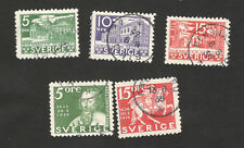 SWEDEN-5 USED STAMPS