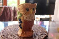 VINTAGE 1970'S AUSTRALIAN POTTERY JUG, IN FORMED OF AN OWL SIGNED MAY LANSBURY