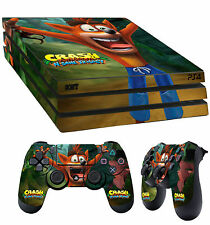PS4 Pro Skin Crash Bandicoot N Sane Trilogy Sticker + 2 X Pad decal Vinyl LAY