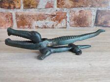More details for vintage antique cast iron crocodile nut cracker