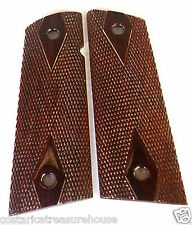 1911 FULL SIZE SLIM-CUT GRIPS COCOBOLO magwell & full DOUBLE DIAMOND CHKNG 1-17