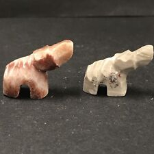 Rock Sculpture 2 Baby Elephants Home Decor Beautiful Granite/ Stone or Marble