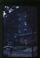 1950s red border Kodachrome Photo slide Cleveland OH #2 Evangeline Building Car