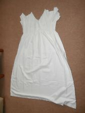 """Vintage 1930's ladies old cotton long nightdress 36"""" Broderie Anglaise"""