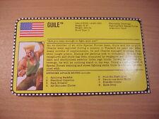 GI Joe - 1993 GUILE - FILE CARD/FILECARD - Street Fighter 2