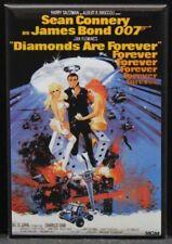 """Diamonds Are Forever Movie Poster 2"""" X 3"""" Fridge Magnet. 007 James Bond"""