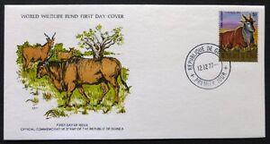1977 Guinea Wildlife Stamp FDC 'The Eland' WM-2043.