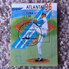 1996 Atlanta Olympic Baseball Postage Stamp - Franked 29-2-96