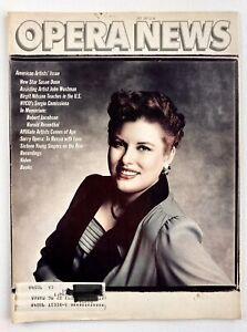 Opera News Magazine Susan Dunn John Wustman July 1987 Grammy Spinto Soprano