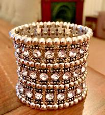 Sparkling Cuff Bracelet. Indian Bridal Jewellery. Diamante bracelet. Great Gift