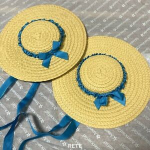 2X American Doll Felicity's Straw Hat w/ Ribbons Holiday Accesssory Toy Retired