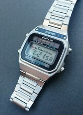 Stunning Rare Seiko A156-5040 Sports 100 Solar Powered LCD watch 1979