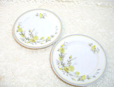 """Charles Ahrenfeldt Limoges, Two 7 1/2"""" Plates, Yellow Roses"""
