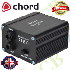 More details for chord di-p1 passive di box   converts instrument output to line-level signal