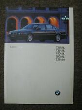 Prospekt / Katalog für BMW 7er Reihe Limousine, E 38, 1996