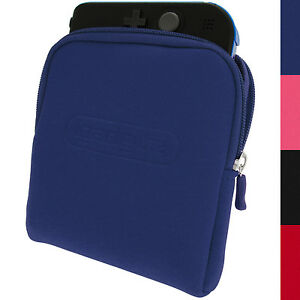 Blue Neoprene Sleeve Protective Travel Pouch Carry Case Cover for Nintendo 2DS