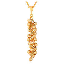 Pendant Necklace Botryoidal Fashion Jewelry U7 18K Gold Plated Grape Cluster