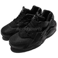 Nike Huarache Run GS Triple Black Kids Junior Running Shoes Sneakers 654275-016